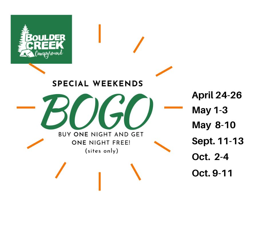 BOGO Weekends